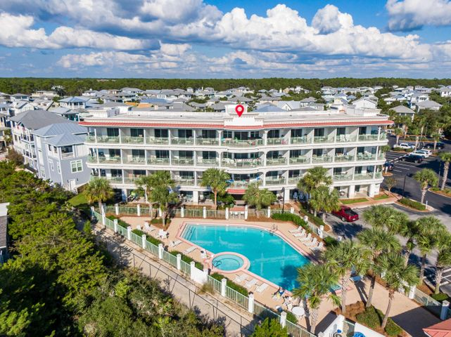 Welcome to The Inn at Seacrest! This comfortable ground floor condo has been tastefully remodeled and offers the utmost convenience with parking right outside the condo and the pool just off the back patio.  No elevators or stairs to worry about with this one!  Located just East of Alys Beach in Seacrest you can walk to all things Rosemary Beach, Alys Beach and Seacrest Beach. These condos are excellent vacation rentals or perfect weekend getaways for owners looking for an affordable escape along 30-A. You have excellent beach access with this condo and a nice, quiet community pool. Don't miss out on this wonderful opportunity along Scenic Highway 30-A!
