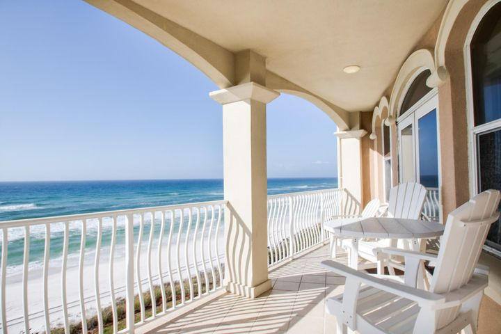 Gulf front on the south side of Scenic Highway 30A, Monterey Condominium Unit C301 is the ideal location for your next beach escape. The open kitchen, dining, and living area lead out to the furnished balcony where you can catch amazing sunsets. The master suite is located on the Gulf side and offers breathtaking views of the emerald waters along with its own balcony access. This beautifully furnished unit boasts two additional guest bedrooms, each with queen beds and attached bathrooms, as well as hallway bunks. When you aren't playing on the white sandy beach or splashing around in the Gulf-front community pool, be sure to explore the 30A area and discover a variety of shopping and dining venues in neighboring Rosemary Beach, Seagrove, and Seaside.