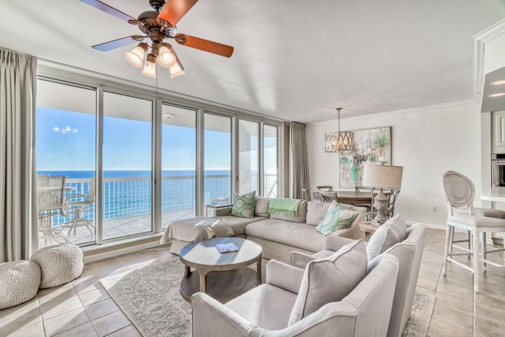 Prime 8th floor positioning for this 3 bedroom, 3 bathroom beach front condo at Silver Beach Towers in Destin, Florida conveying with a deeded covered parking spot #111! Enjoy stunning views of the Gulf of Mexico over the pristine white sand beaches of Florida's renowned Emerald Coast.  The Gulf front master bedroom features a walk-in closet and balcony access while the en-suite bathoom boasts a shower, separate tub & double vanity. The two guest bedrooms both offer excellent views, natural light and plenty of space for the entire family. Silver Beach Towers amenities include over 600 feet of sugar white sands, 2 Gulf side pools, 2 hot tubs, BBQ Grilling area, tennis courts and is centrally located close to dining, shopping and entertainment to keep the family busy day in and day out.