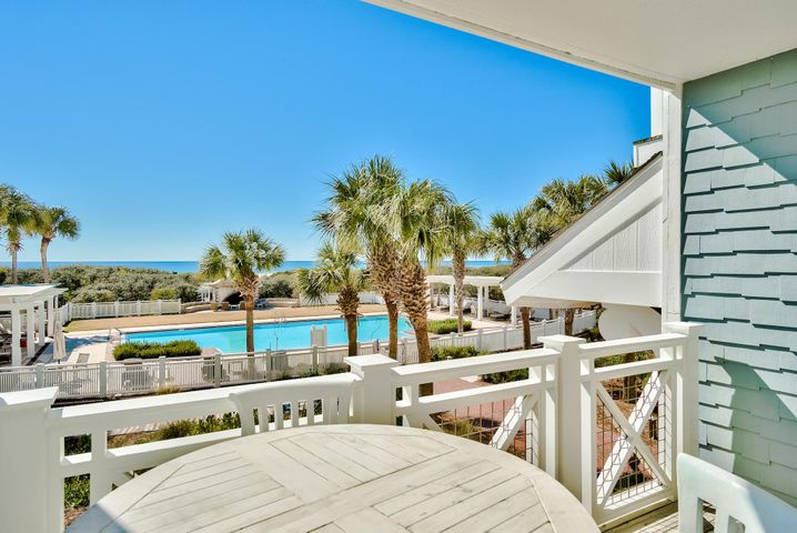 Tucked behind the private gates of Watersound Bridges resides one of 30A's most sought after low-density Gulf-front complexes. The iconic arch and Nantucket inspired design elements hold true to the unique coastal flair found throughout the Watersound community. This residence style unit features two levels of thoughtfully designed living space, an attached garage, and ample Gulf-front porches. The first floor is home to the primary suite with grand ensuite and direct patio access. The living and dining areas on the second level are centered around the stunning views out to sea. Two additional bedrooms with ensuites complete the second floor. Watersound resides on over 1,400 acres and over a mile of private white sugar sand beaches. The culmination of amenities and exclusiveness affords residents with the epitome of private coastal living while remaining geographically poised near the world-class dining and entertainment venues 30A has to offer. Notable amenities include a heated community swimming pool, fitness center, pedestrian bridges and foot paths to the beach, and multiple community parks.