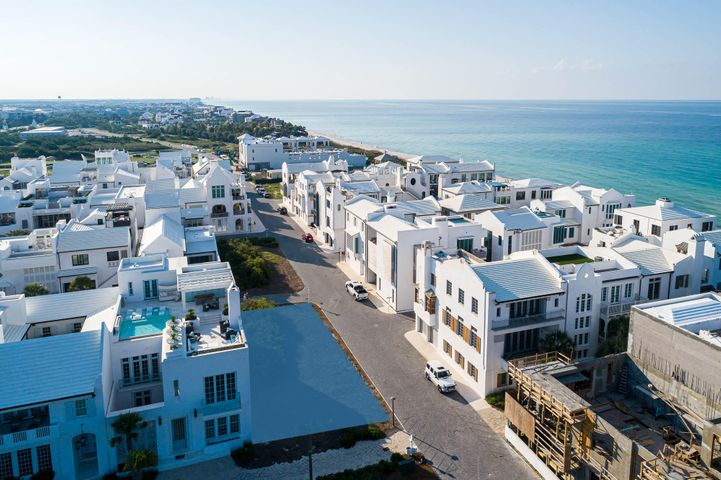 A vanishing homesite opportunity with views of the Gulf of Mexico sold with architectural plans by Domin Bock Architects.  This one of a kind opportunity is located beachside in Alys Beach fronting Sea Garden Street, this homesite allows for a two-story home with a 3rd floor roof terrace opportunity offering gulf views. Direct Beach Access is steps away from the iconic Gulf Green. This homesite is one of the largest south of 30A. Nestled on 158 acres along the emerald waters and serene white sand beaches of Northwest Florida's Gulf Coast, Alys Beach is a New Urban community created with the highest standards for beauty, sustainability, and quality of life. White masonry homes are inspired by the harmonious architecture of Bermuda and Antigua, Guatemala. Courtyards meld indoor and outdoor