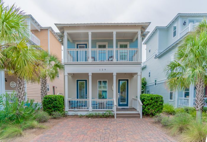 Come see this gorgeous 3 bedroom with bunk room and 3 bath home located in the sought out community of Seacrest Beach located off of scenic 30-A. Sold fully furnished! This community has deeded beach access along with a great community pool, and beach shuttle. You're literally steps from the Gulf of Mexico! This home has an open floor plan on the first floor. The kitchen looks over the living area. There is also a great porch space for entertaining and grilling. There is a  bedroom on the first level, and the  master suite is up stairs with a private screened balcony, along with an additional bedroom AND separate bunkroom that also has its own balcony. This home is a fantastic rental property with the numbers to back it up! Come see this beautiful home today!