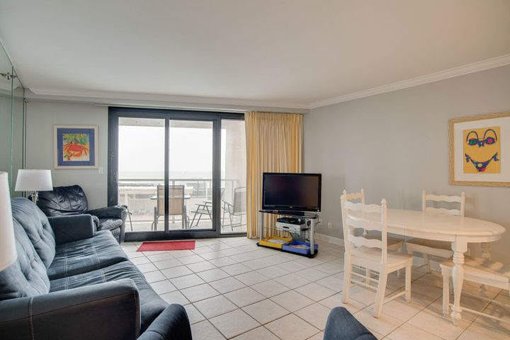 Great view of the pool and the gulf from this 2nd floor unit.  The location is a big plus. You can avoid the busy elevators with direct access from the parking lot to the unit and out to the beach and pool.  Unit is sold fully furnished and rental ready.  Rental Projections are $30K to $32K. Buyer to verify all dimensions.