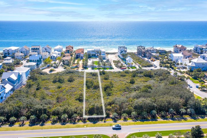 One tier from the Gulf in the highly sought after community of Paradise By The Sea, primely located immediately adjacent to Alys Beach and just west of Rosemary Beach.  Paradise By The Sea is noted for its high level of privacy and exclusivity. This estate-sized homesite of nearly half of an acre sits one back from the gulf-front, and its impressively large footprint of 60 feet wide and 345 feet deep will accommodate a large primary residence, carriage house and a private pool and convey gulf views. With just 51 homesites, all large, estate-sized properties that have defined the community, Paradise By The Sea shares more than 1,700 feet of deeded private beach frontage. No build-out time requirement and low assessment fees.  Relax and enjoy the privacy and luxury living offered by this  exclusive and tranquil community located on the popular east end of Scenic Highway 30A.