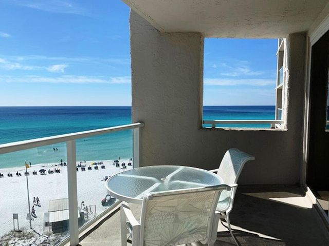 This 2 BD/1 BA rarely available floor plan is a beautiful 7th floor corner unit with gorgeous views of the Gulf of Mexico and total privacy off the balcony.  The units is being sold fully furnished and rental ready.  Amenities include a heated pool, an exercise room and covered parking.  All dimensions to be verified by buyer.