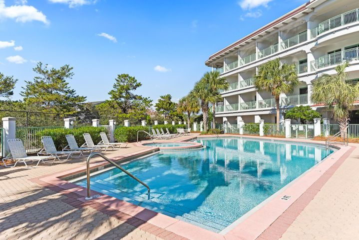 This amazing top floor unit has been recently renovated to provide a wonderful place to stay on the infamous 30A. This unit has beautiful Gulf views and is conveniently located between Alys and Rosemary Beaches where you can enjoy fine dining and shopping.  A short tram ride or quick walk will take you to the white sandy shores and emerald waters of the Gulf of Mexico. An investors dream or a great getaway. With a private pool and hot tub who could ask for more!  Buyer to verify all dimensions.