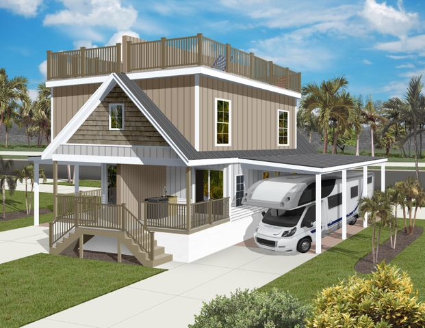 Each home has RV Carport , Porches, & Exclusive Private Observation Deck