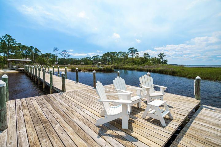 Bay front dock with private owner only access.