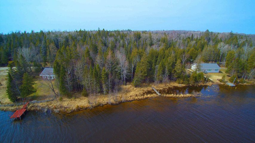 AERIAL VIEW WATERFRONT LOT
