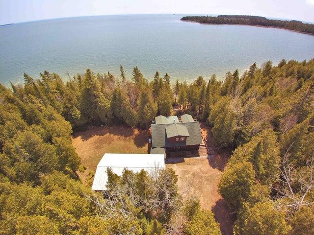 Aerial View Home and Lake Huron