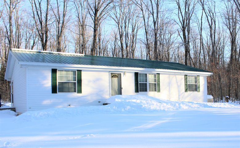 Spotless 3 bedroom 2 bath home on 6.77 acres.