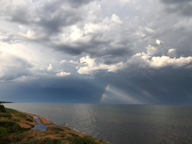 Spectacular weather events daily over Whitefish Bay