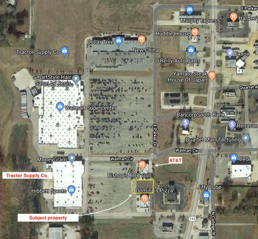 Lot #2 Walmart Circle, Booneville, MS 38829