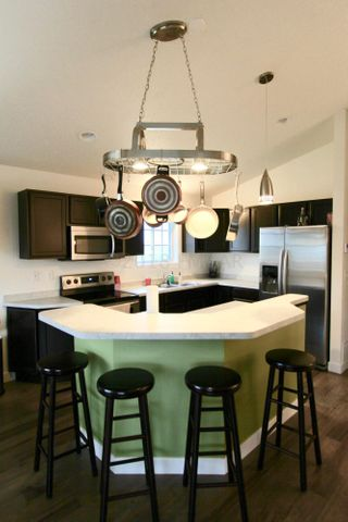 Beautiful Kitchen with stainless appliances, large island and beautiful cabinetry