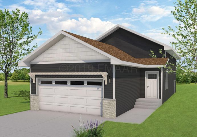 Rendering may ot be exact representation of front elevation.