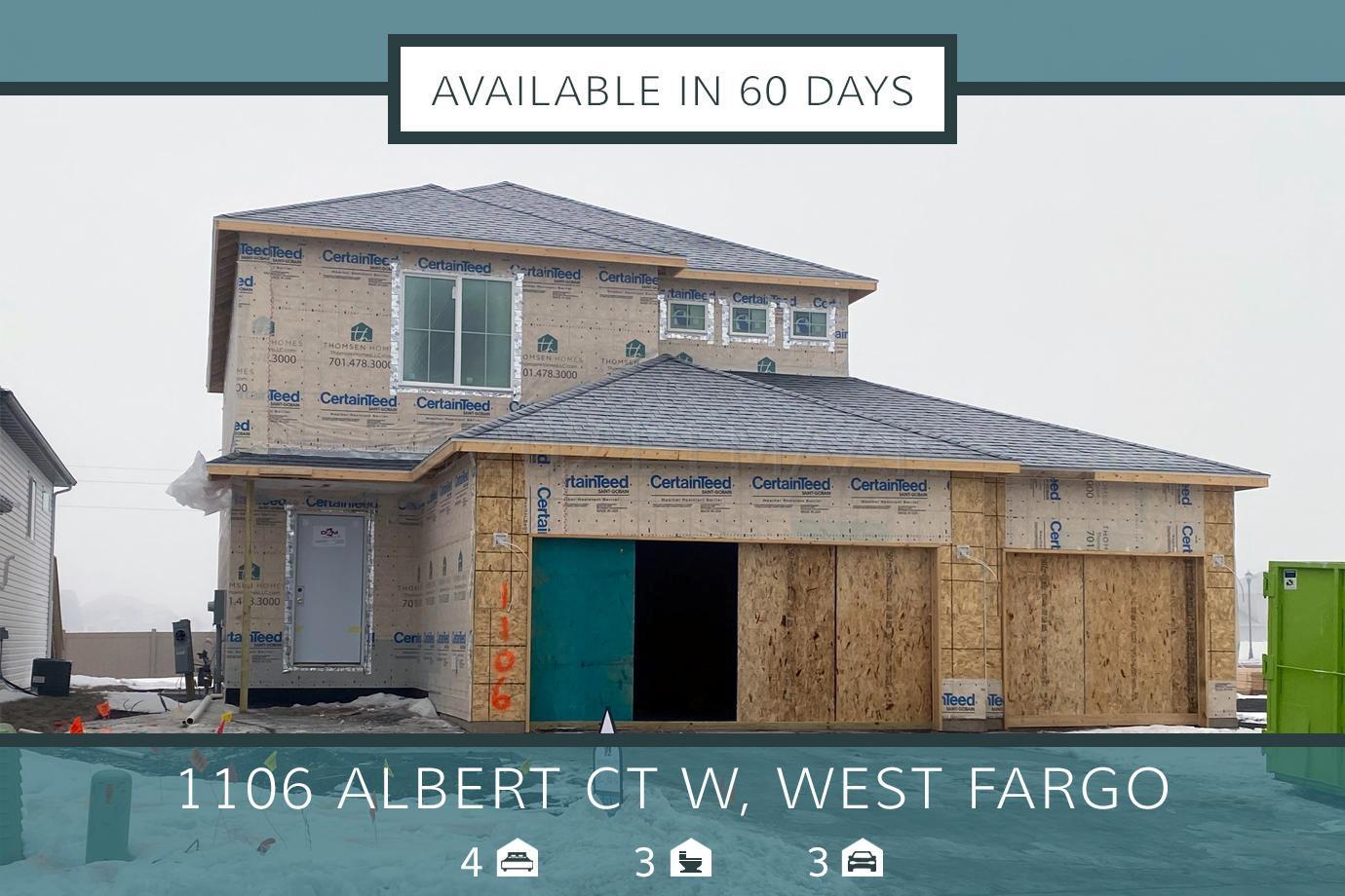 1106 ALBERT Court W, West Fargo, ND 58078