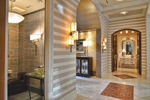 Hallway and Powder Room