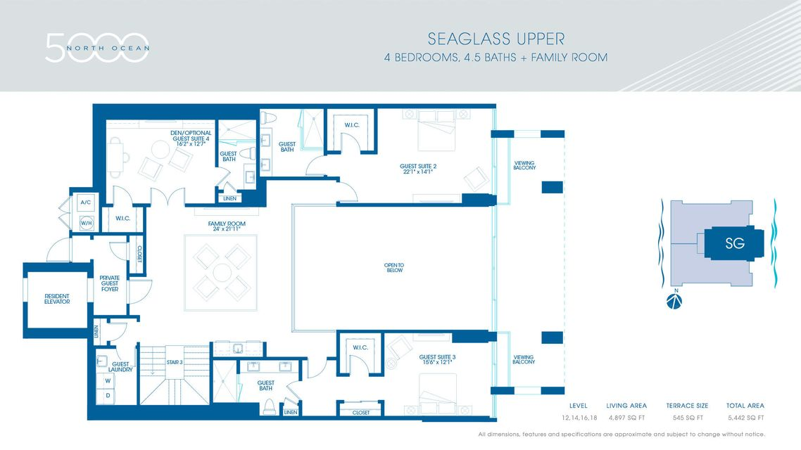5-Seaglass Upper Floorplan