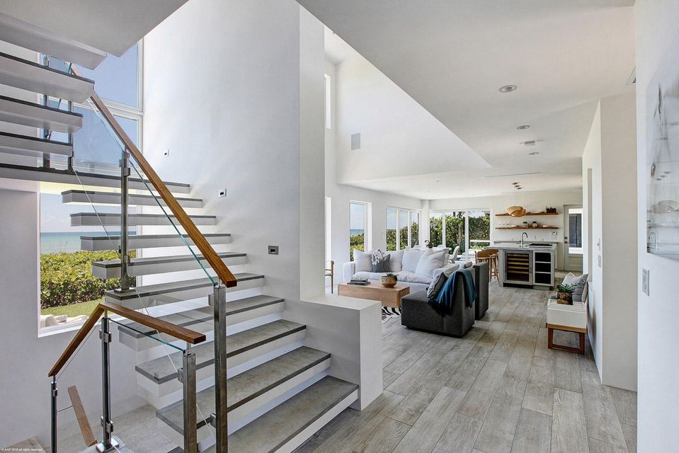 View towards Living Room from Staircase