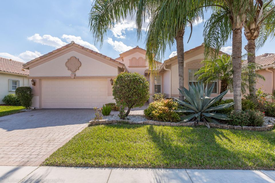 This is a HOPA community 55+. Best deal! Newly built in 2004, beautiful home with high ceilings and a view of the preserve. 3 bedrooms, 2 and a half bathrooms, built in closets, formal dining room, tiled floors, his and hers closets in the master bedroom. Bellaggio is a 55+ community with great amenities like 36,000 sq ft club house with heated indoor swimming pool, outdoor swimming pool, fitness center, cafe, 10 tennis courts, library, billiard rood, business room. HOA includes lawn maintenance, security alarm monitoring, reserve account, use of all facilities, cable, internet, $250 per year cafe card. Buyer has to pay a mandatory non refundable HOA contribution upon purchase of $1164.