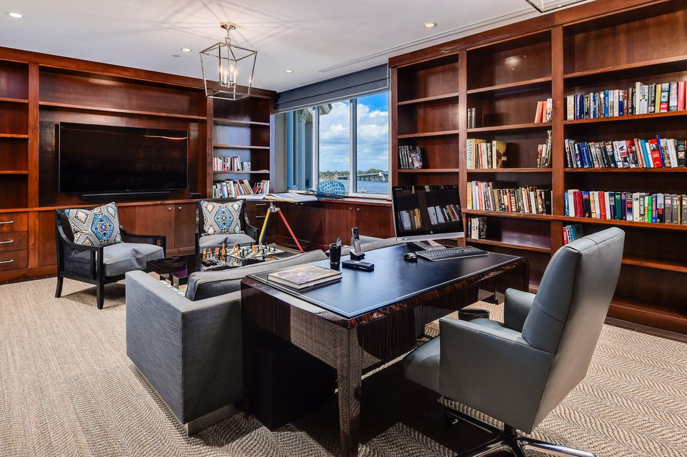 Library with Intracoastal Views