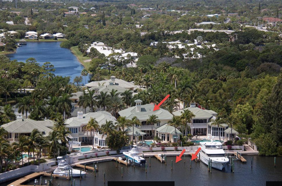 Aerial House and Boat Slips