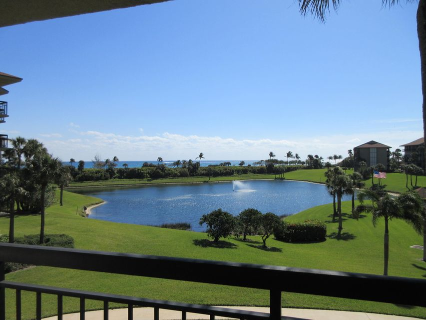 Lowest priced Bluffs condo with unobstructed ocean views. You'll love this 2bed/2bath condo with brand new, high quality IMPACT GLASS sliders in living room and master. New tile floor in kitchen and foyer. Peaceful direct ocean view overlooking pool and grounds. Unmanned gated entrance. Low condo fees for oceanfront building only $452/month. Restrictions- No pets, No lease 1st year, 4 mon min on leases.