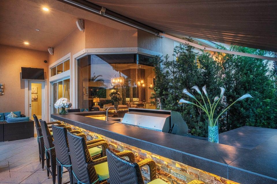 Outdoor Kitchen at Twilight