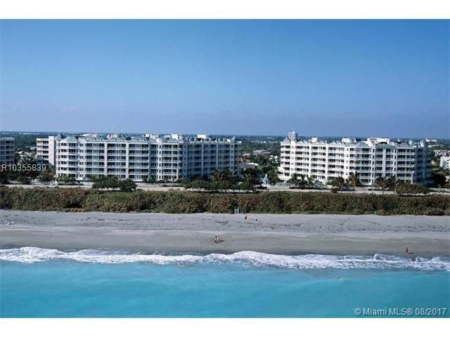 Here's your chance, a rare opportunity to buy one of Jupiter's most sought after condo. This ocean front condo offers one of the largest floor plans in Jupiter Ocean Grande. With one unit per floor, the elevator will open into your personal private foyer area and entrance. Open your front door to find spectacular turquoise ocean views from this 6th floor end unit. Enjoy this spacious furnished unit, with over 2,700 square feet of living space, 3 bedrooms, 3.5 bathrooms, with an additional den/office that can be converted into a 4th bedroom.