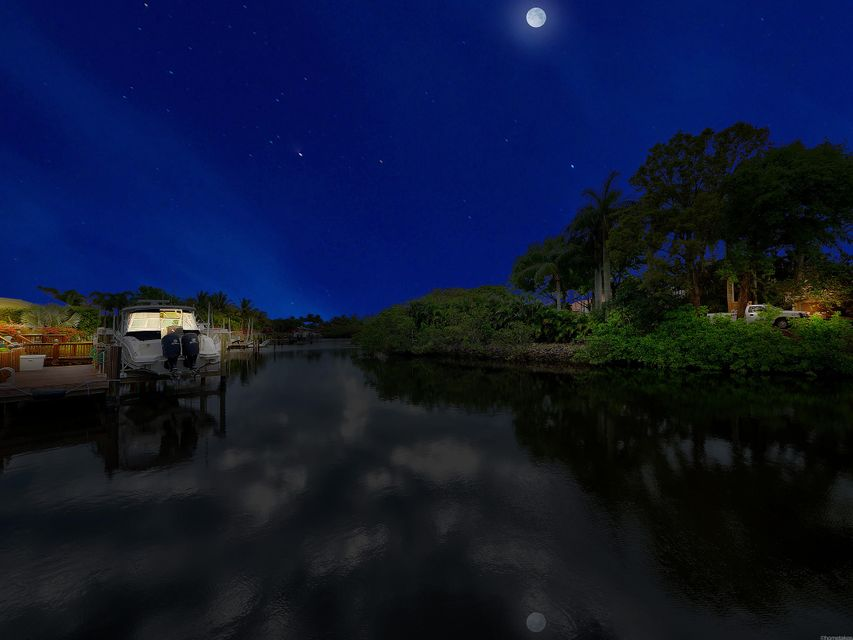 Waterfrontage View from Dock - Night