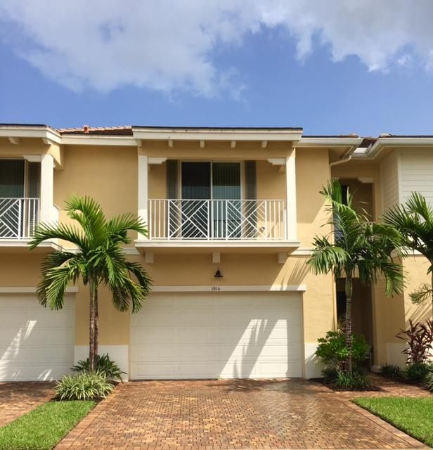 Tranquil & serene Preserves from this beautiful 2 story Town home with Tile Roof located in Palm Beach Gardens. 3 Bedrooms, 2.5 baths, 3 fabulous patios to enjoy the natural beauty of Hampton Cay & the exotic native vegetation & beautiful birds flying thru the trees. All hurricane impact windows & doors, open granite kitchen, with maple cabinets & stainless steel appliances, Tile floors on 1st level, white Plantation shutters, upgraded lighting, a 2 car Hurricane garage doors, Large Master Bath and 2 large walk-in closets, Dual Vanities & seamless glass shower enclosure. Pet friendly! Amenities: Large Clubhouse with Billiards, Gym,  Heated Pool, covered sitting area w/Fountain.Walking distance to many great Restaurants & shops. Convenient for I-95 or the Turnpike. Pet on premises