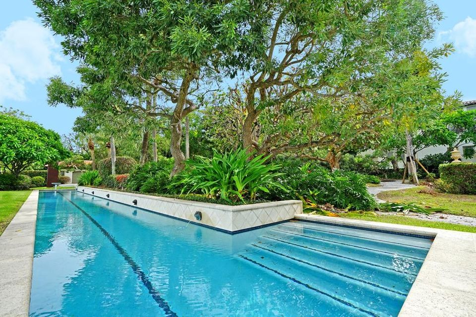 Lakefront lap pool