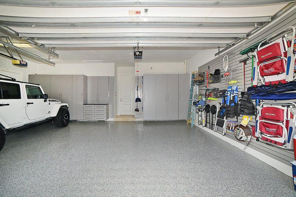 Custom designed garage and floor