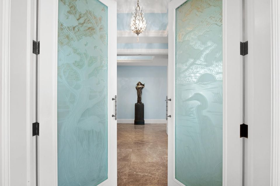 ETCHED GLASS DOOR ENTRY