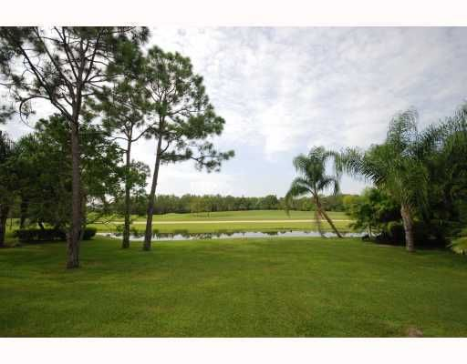 rear view of golf course from house