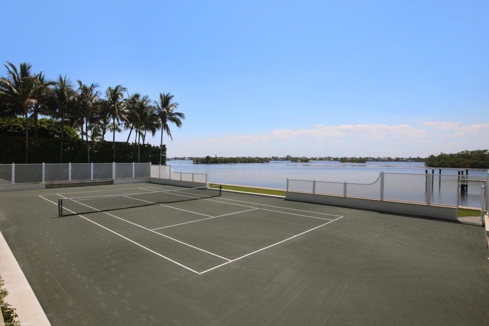 Tennis Court on Lake