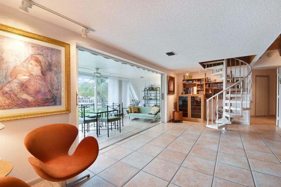 Sun Room with Staircase