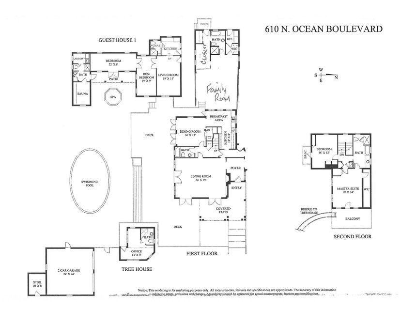 610 North Ocean Floorplan