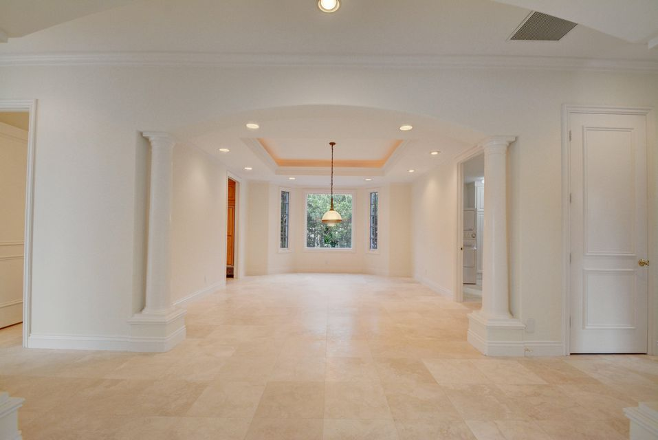Marble flooring throughout