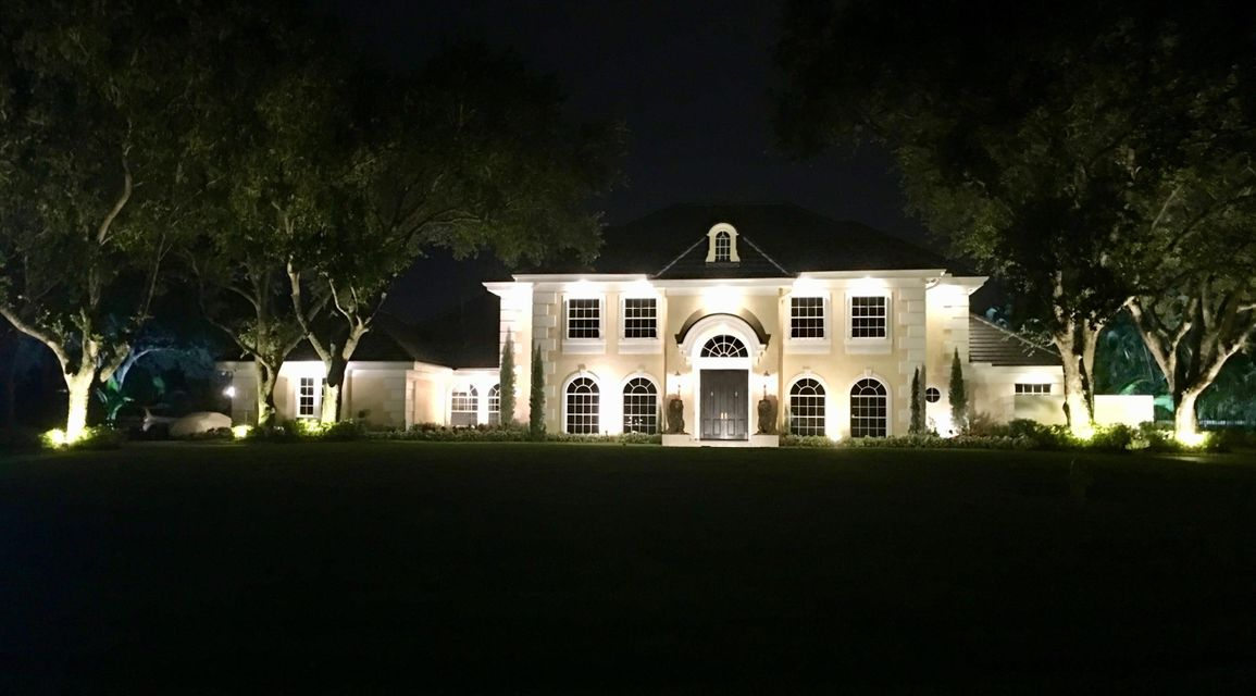 night view of home lit up