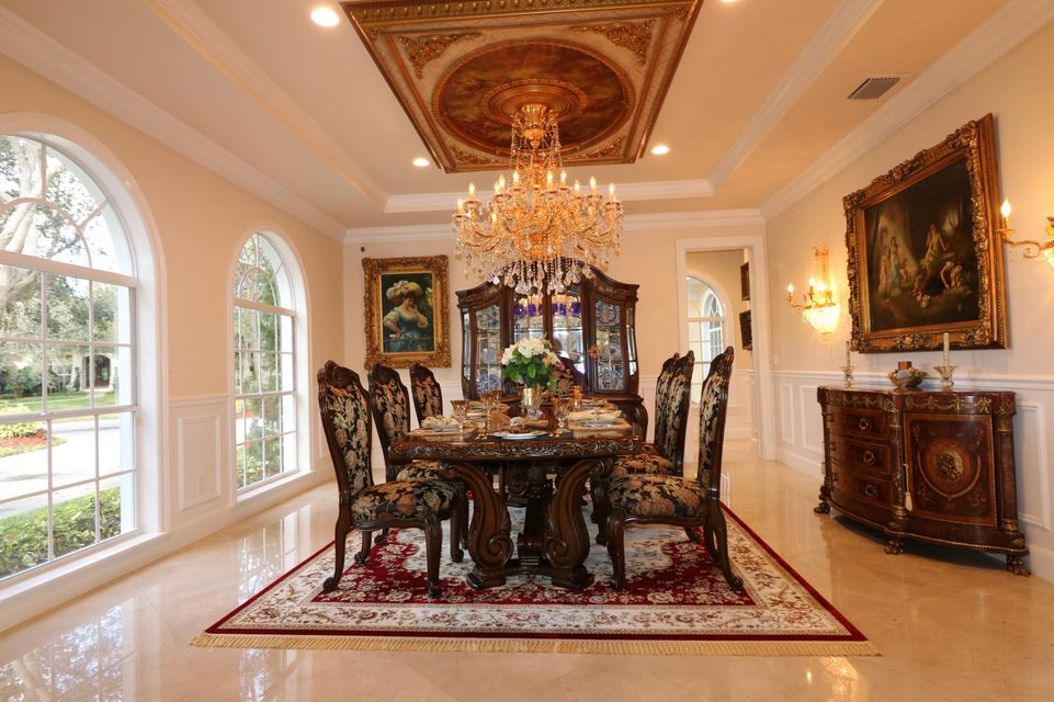 Dining room from entranceway near floor