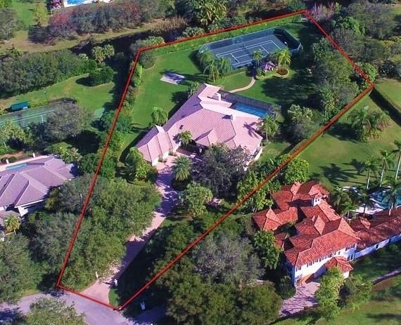 Aerial view of estate lot