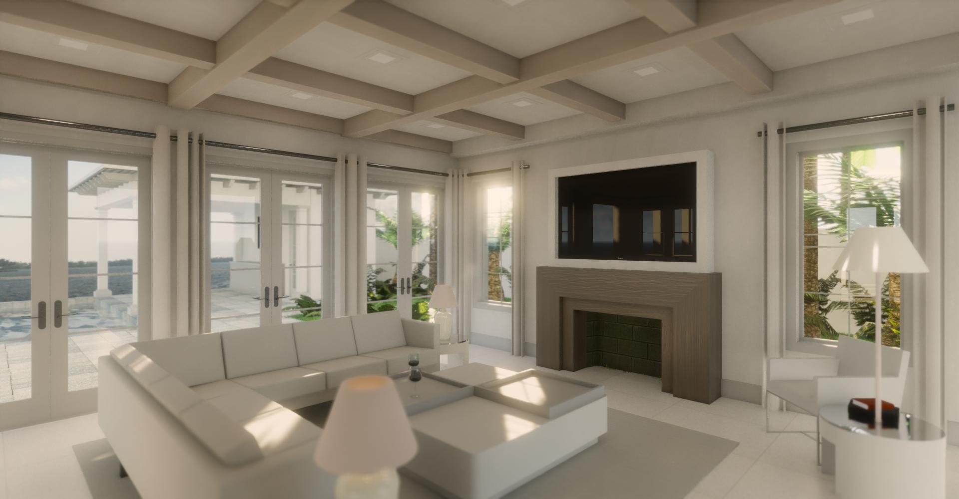 rendering of family room