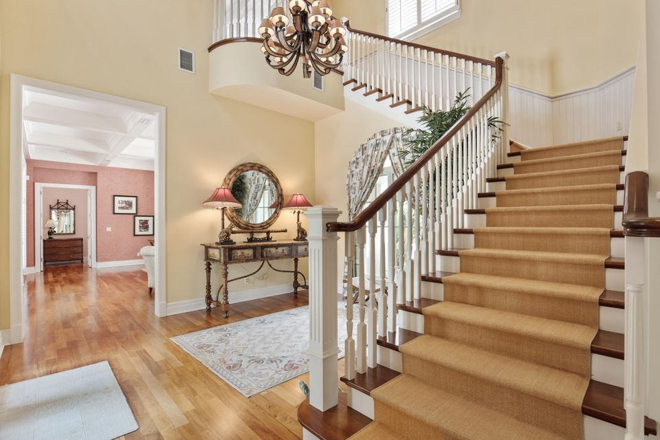 Staircase to master bedroom
