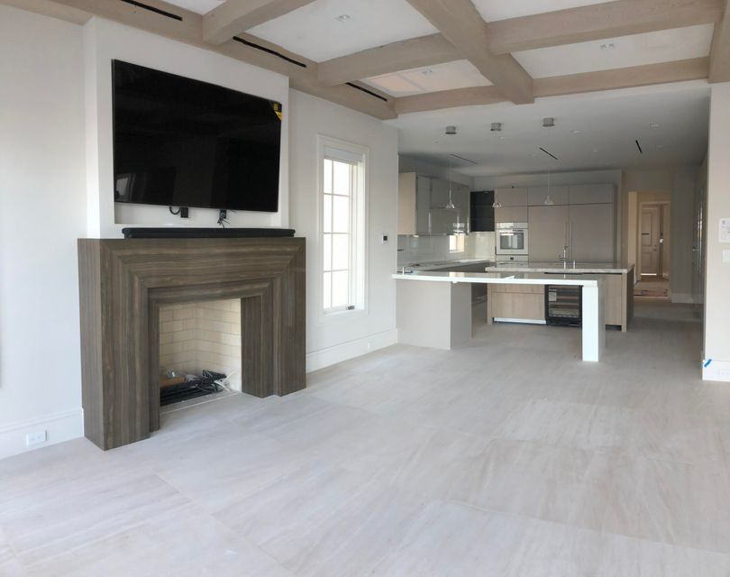family room and kitchne