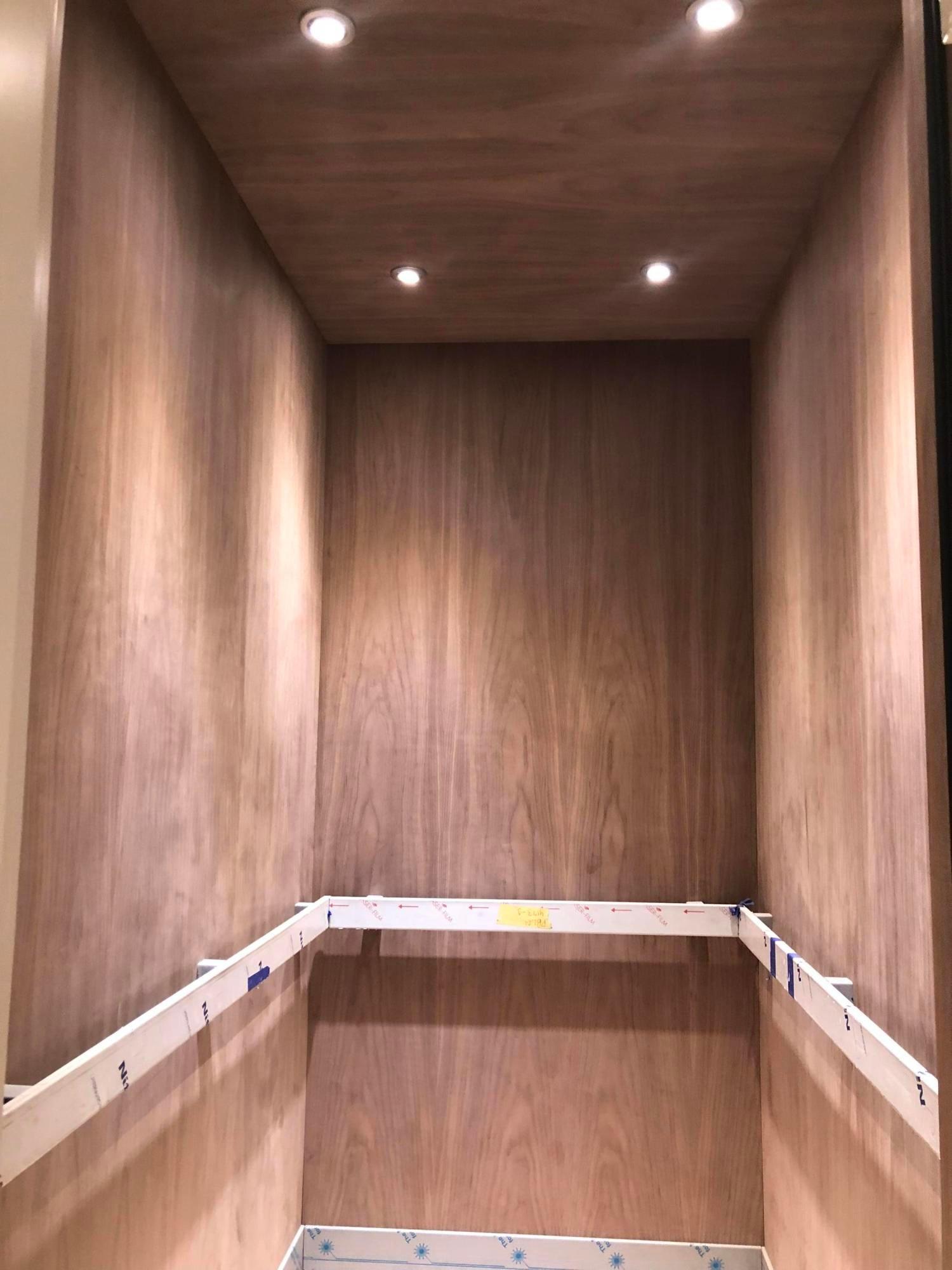 walnut panel elevator