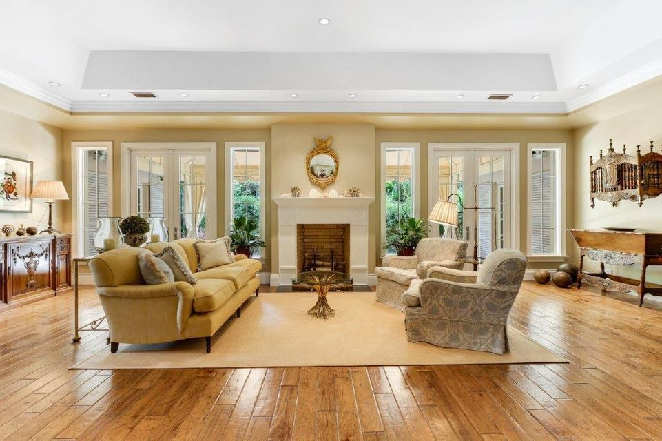 French doors in the living room