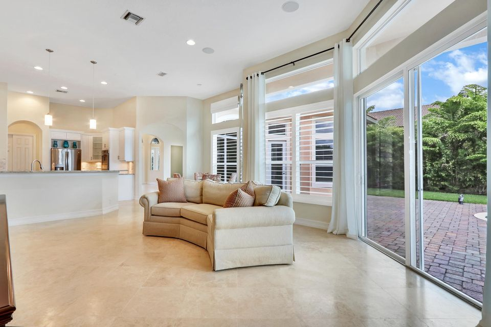Family room leads to large yard