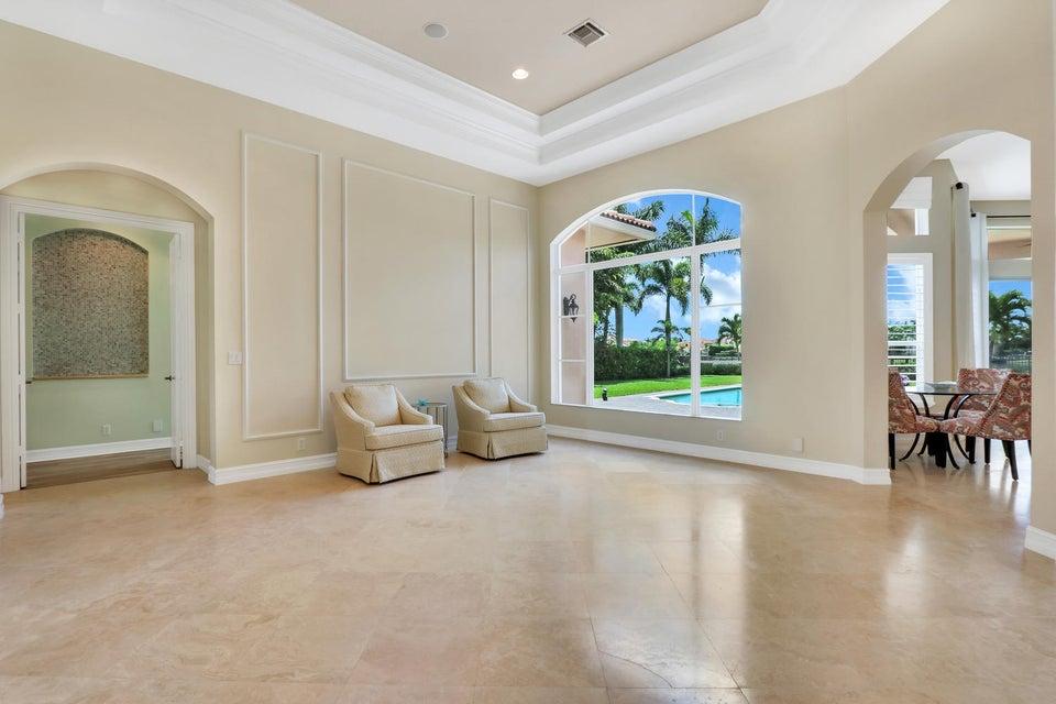 Formal living room w/ marble floors