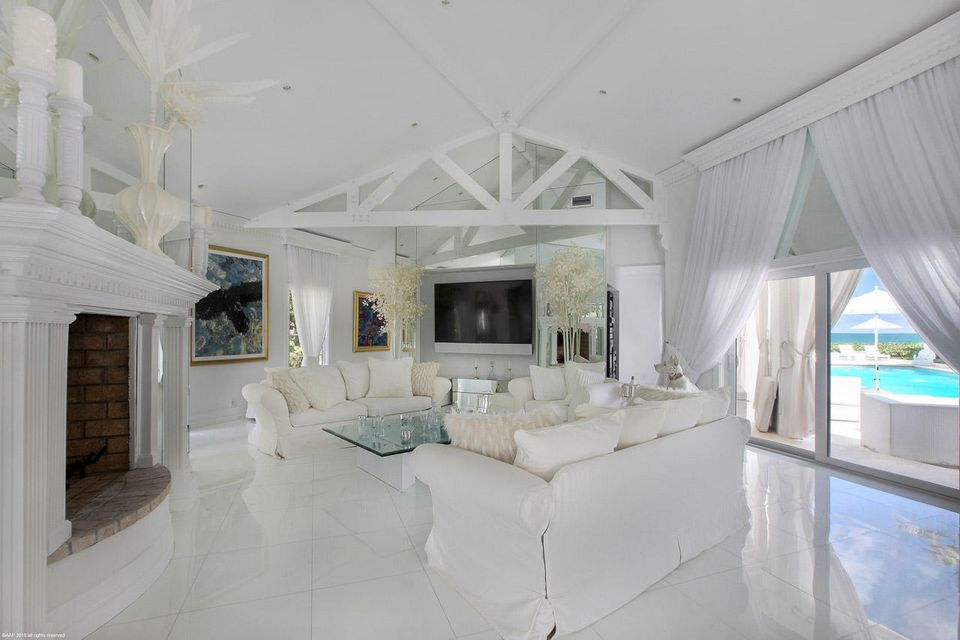 Living Room with Towering Ceilings